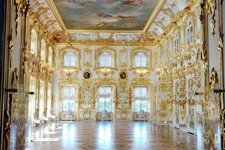 Peterhof Palace, Grand Ballroom, Bartolomeo Rastrelli.