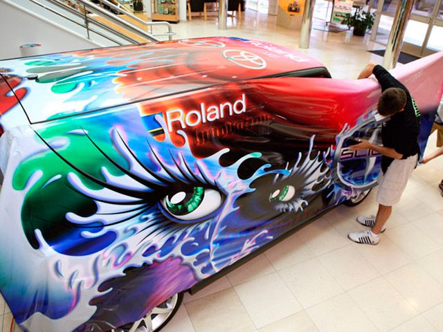 Roland DG vehicle wrap #speedproshawnee