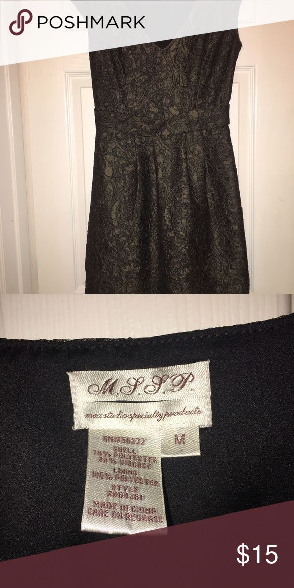 Max Studio Dress  M.S.S.P. Fancy Dress Max Studio Specialty Dress in a shimmery army green patterned dress.  Side zip!  Perfect for fall and holiday parties!!!  Worn once! Max Studio Dresses