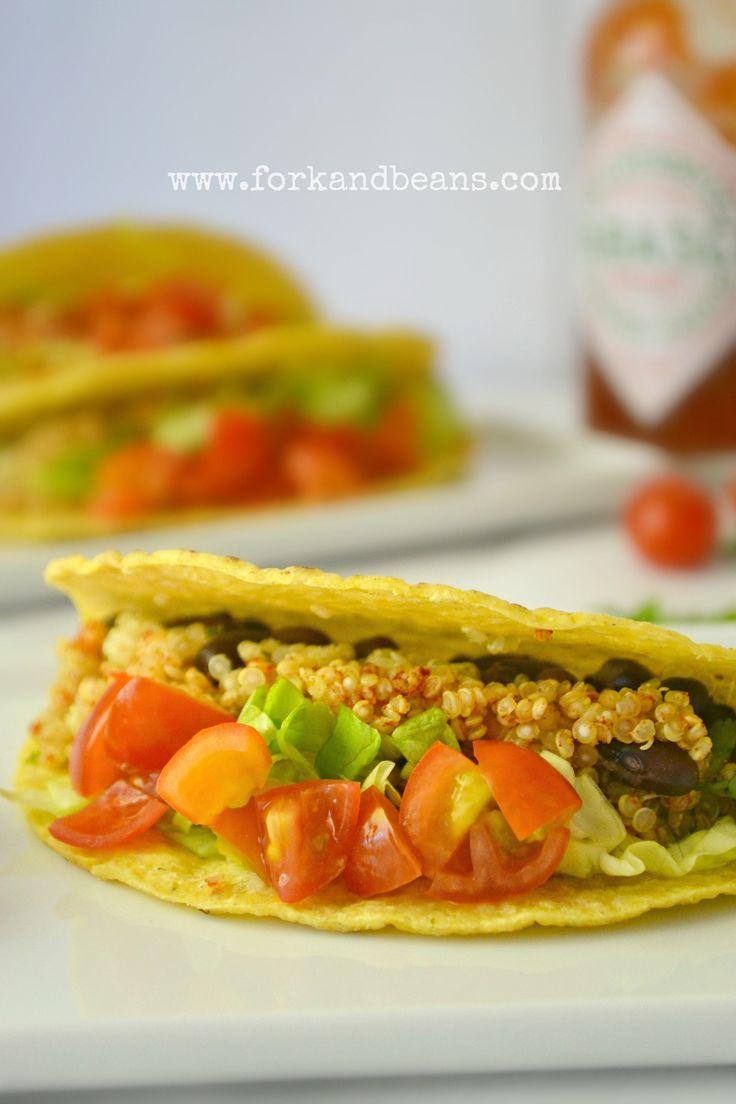 recipes vegetarian meal meat recipes vegan tacos quinoa recipe beans ...