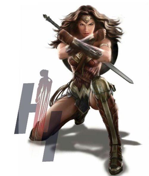 Gal Gadot's Wonder Woman. (Batman v. Superman)