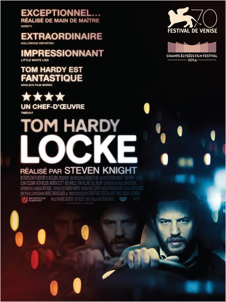 Locke by Steven Knight (2013) // The entire film takes place inside of a car, but I was on the edge of my seat the entire time.