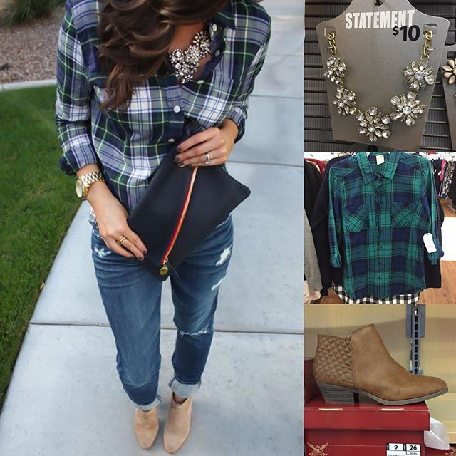 Plaid, sparkle and ankle boots.  from #Pinterest Look for less is all @Walmart…