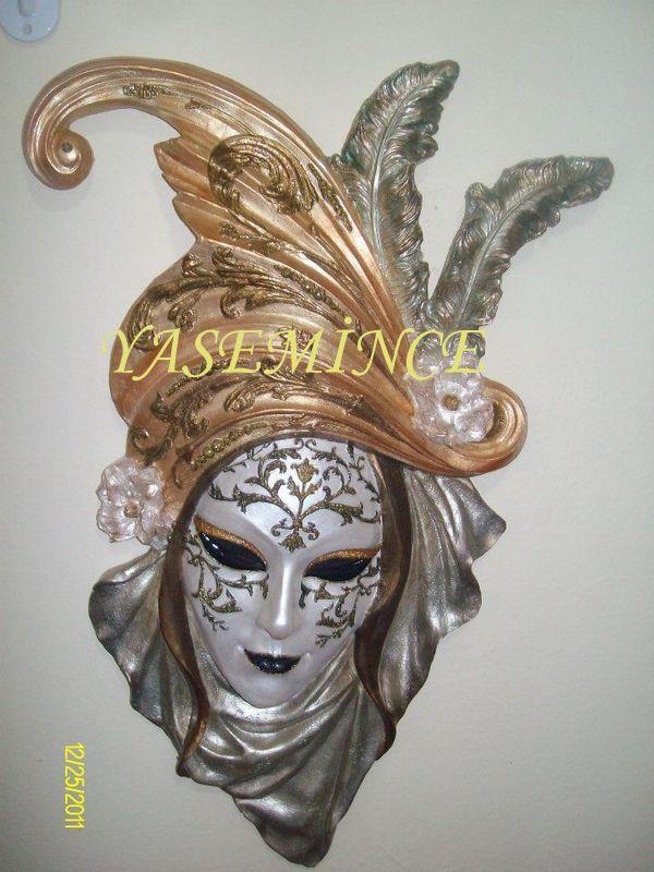 MASK 2...Yasemince Ahşap Kumaş Seramik Boyama & Yasemince Dekopaj ResimLeri  &   YaseminCe All types of Art Grup