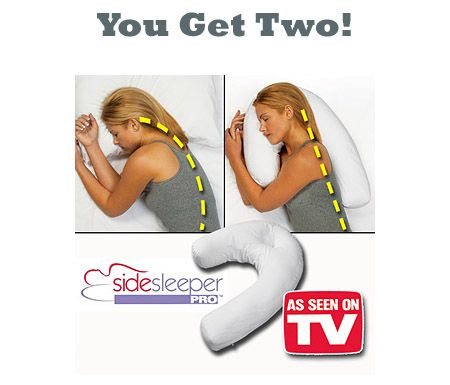 13 Deals -pillow cases Side Sleeper Pro Perfect Pillow - Set of 2! (See video below!)