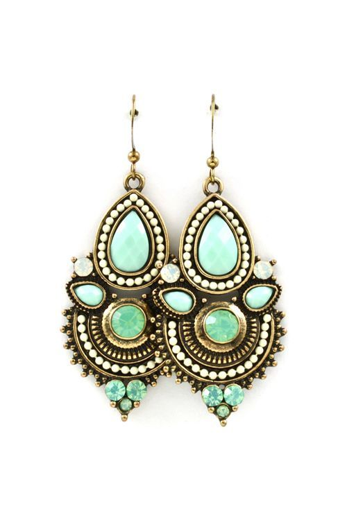 Anne Marie Earrings in Iridescent Mint on Emma Stine Limited