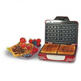 ARIETE - 187 Waffle Maker Party Time Macchina per Waffle Colore Rosso
