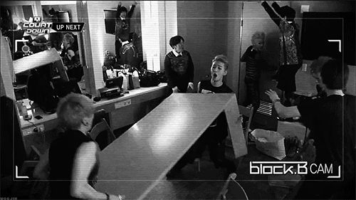 Block B....Lol !!! They are crazy but that's why we love them XD