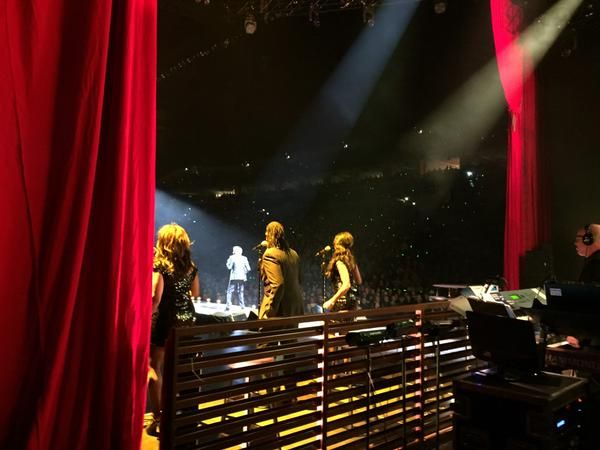 Dave Koz took this photo from the wings in Omaha, NE 2/15