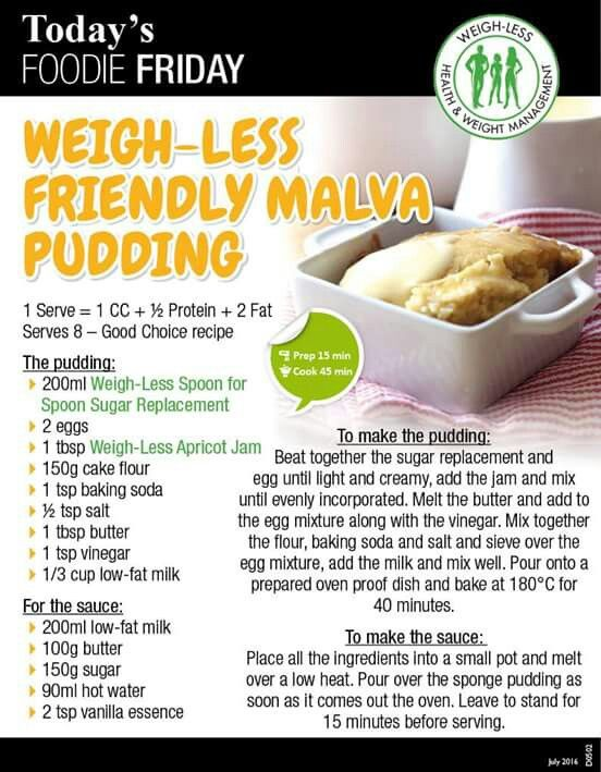 Weighless malva pudding