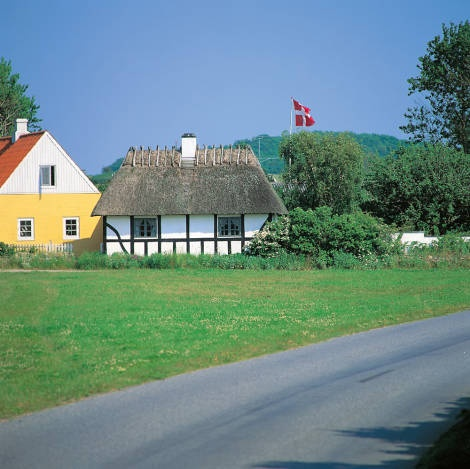 Bornholm - A Danish island between Sweden and Poland. Low cost fares, just looking for a low-cost hotel now...