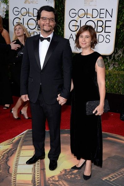 Wagner Moura and his wife Sandra Delgado spotted together at 73rd Annual Golden Globe Awards? in 2015 in California