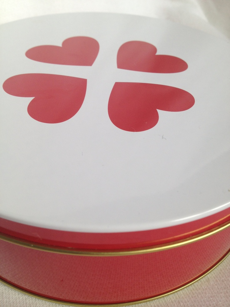 So cute 60s tin storage box vintage canister with hearts. Scandinavian design. Made in Sweden.. kr80.00, via Etsy.