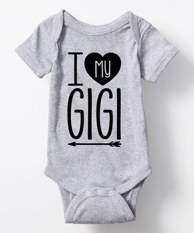 Loving this Athletic Heather 'I Love My Gigi' Bodysuit - Infant on #zulily! #zulilyfinds