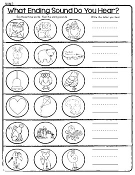SENSATIONAL SOUNDS Worksheets * Beginning, Middle, Ending ...