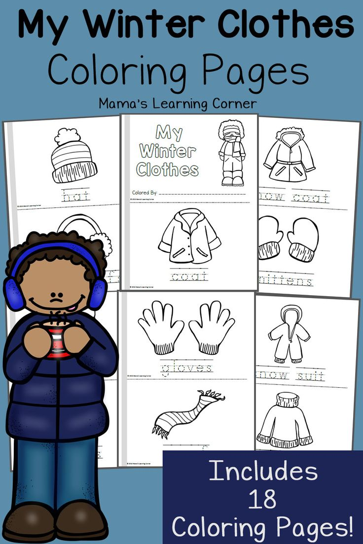 Winter Coloring Pages - 18 pages for your preschooler and Kindergartner to color!