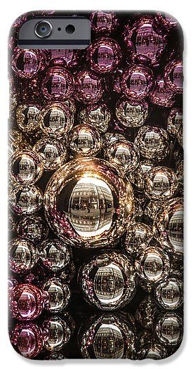 Jenny Rainbow Fine Art Photography IPhone 6s Case featuring the photograph Silver And Purple Christmas Balls by Jenny Rainbow