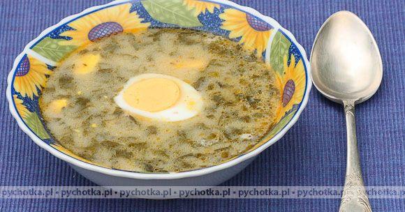 Zupa szczawiowa ze szpinakiem