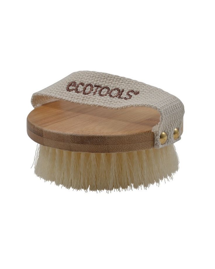EcoTools® Dry Body Brush: Enjoy an at-home spa treatment with cruelty-free synthetic bristles, for beauty you can feel good about!   Inspired by spa dry brushing treatments, use to exfoliate and detoxify, improving appearance and leaving skin soft, smooth and glowing.