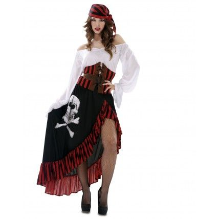 Disfraz de pirata bandana disfraces de piratas adulto - Disfraces originales para adultos ...