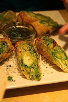 Recipe | Avocado Egg Rolls & Dipping Sauce ... #holiday #party #dessert