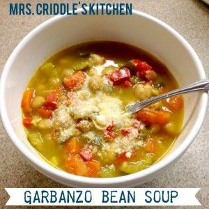 Garbanzo Bean Soup Bowl- E soup that's EASY! Trim Healthy Mama!