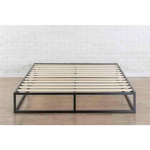 Beuniquetoday King Size Modern 10 Inch Low Profile Metal Platform Bed Frame With Wood Slats Perfe Metal Platform Bed Low Platform Bed Frame Platform Bed Frame