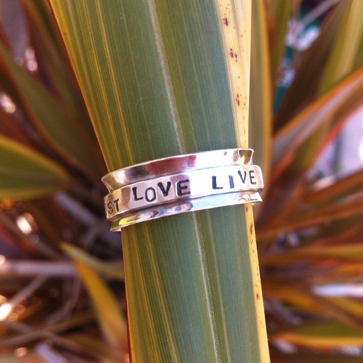 Personalised meditation spinning ring. From £45   #ccc #supermumscraftfair #silver #jewellery #ring #christmas #gift #craft #giftidea #wedding #metalsmithing http://pict.com/p/BLu