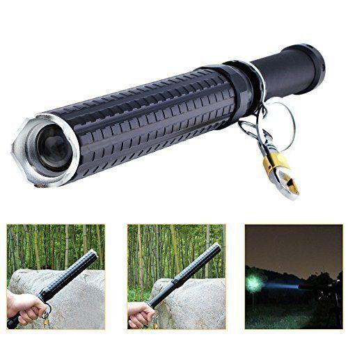 MUMENG Zoom TšŠlescopique Lampe de Poche LED CREE Q5 Batte de Baseball des Patrouilles Matraque de SšŠcuritšŠ Pour Auto-dšŠfense Batterie…