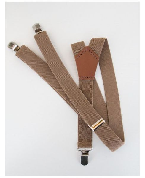 Harvey Max Khaki Suspenders