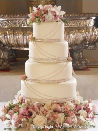 this is a nice wedding cake it would be better with purple decorations on it though. http://prettyweddingidea.com/