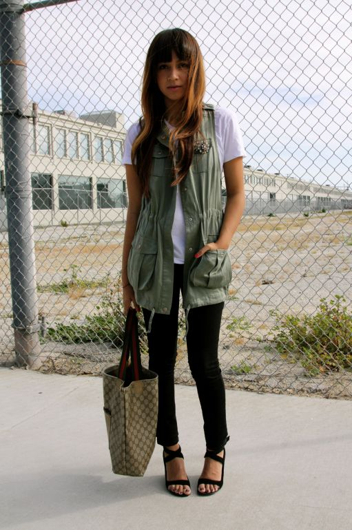 Womens fashion cargo vest 44