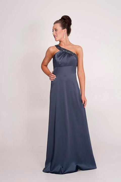 Bianca: one shoulder dress low cut out back. Perth WA BALL GOWN. EVENING WEAR