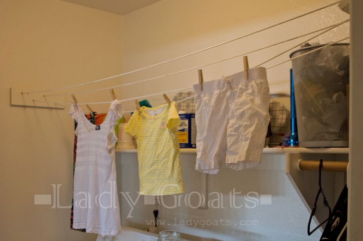 Lady Goats: Free (or Very Cheap) DIY Indoor Clothesline