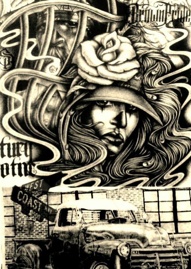 1000 ideas about chicano drawings on pinterest lowrider - Brown pride drawings ...
