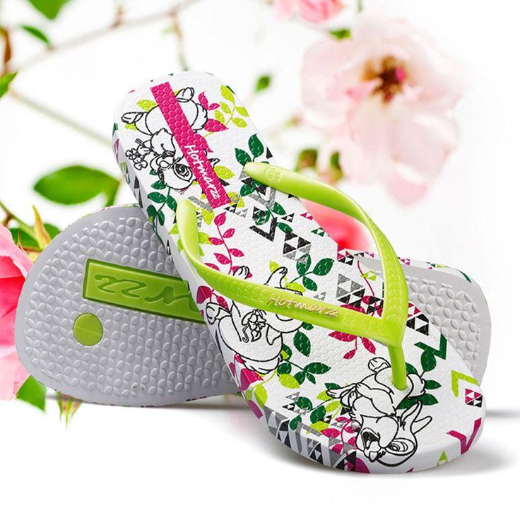 Hotmarzz Women Summer House Shoes Designer Flip Flops Easter Bunny Rabbit Animals Slippers Beach Sandals Ladies Fashion Slides