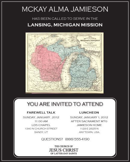 Missionary Farewell or Homecoming Invitation