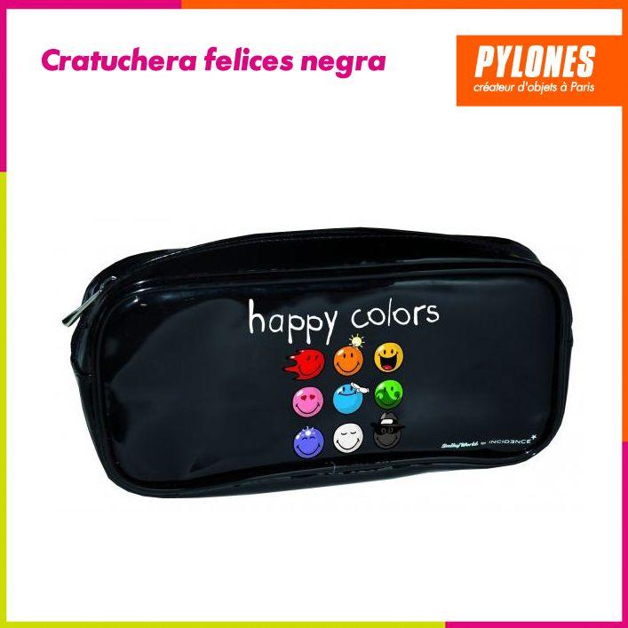 Cartuchera felices negra #Regalos #Novedades  @pylonesco