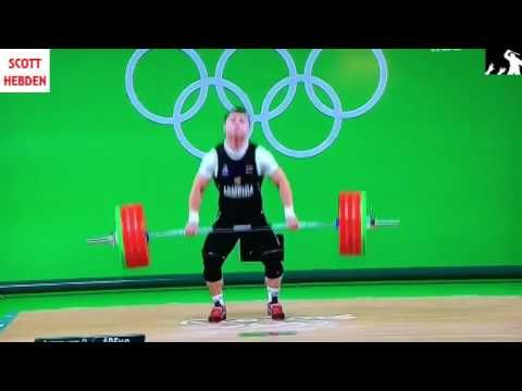 RIO OLYMPICS: Weightlifting Fail, Arm snaps during lift!!