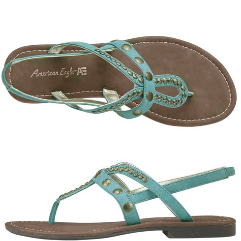 American Eagle Vineyard Studded Flat Sling - Love the color!