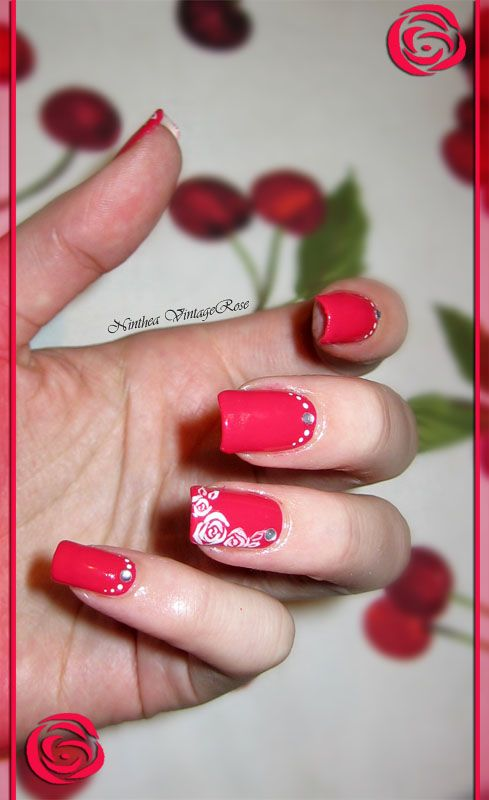 roses and dots