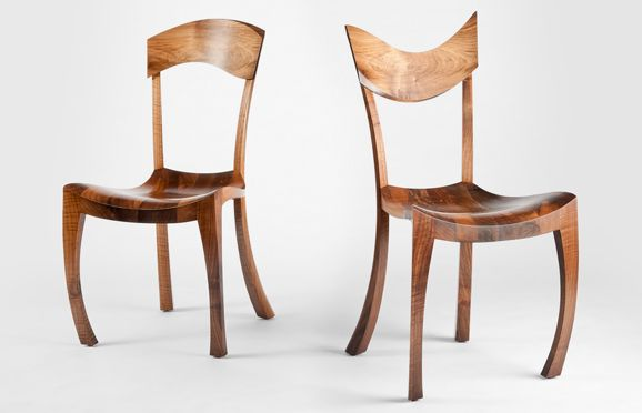 Shown here in European #Walnut, these #comfortable #sculpted chairs have backs that undulate up and down as your eyes passes down the table. http://makerseye.co.uk/bespoke-sculpted-high-back-chair-gracie/  #MakersEye #bespoke #MadeInBritain #furniture #design #BritishCraftsmanship #BestOfBritish #interiors #lifestyle #luxury #seating