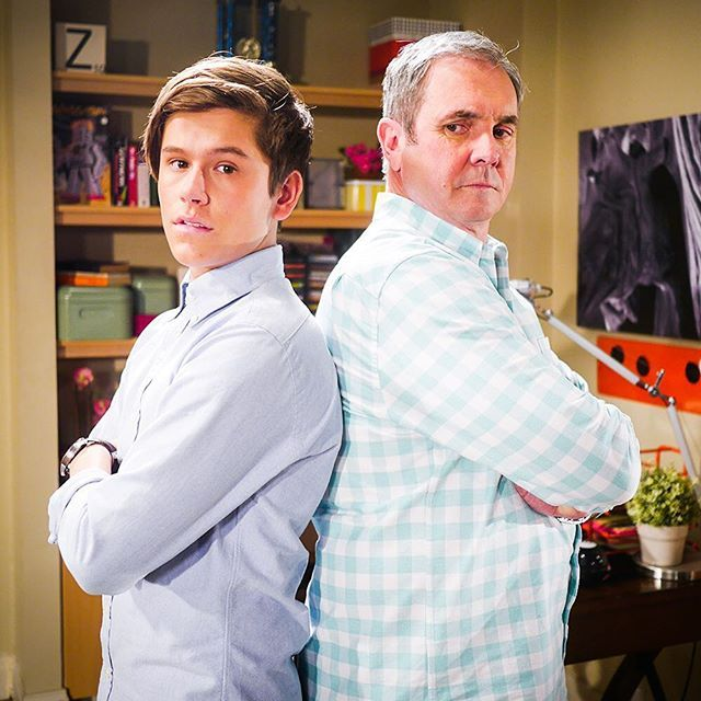 Could Angus be Karl's son? Do you think they look similar? @officialjaiwaetford @fletchy1 #Neighbours