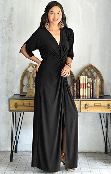 30f68bbe875 KOH KOH Petite Womens Long Sexy V-Neck Short Sleeve Cocktail Evening  Bridesmaid Wedding Party Slimming Casual Summer Maxi Dress Dresses Gown  Gowns