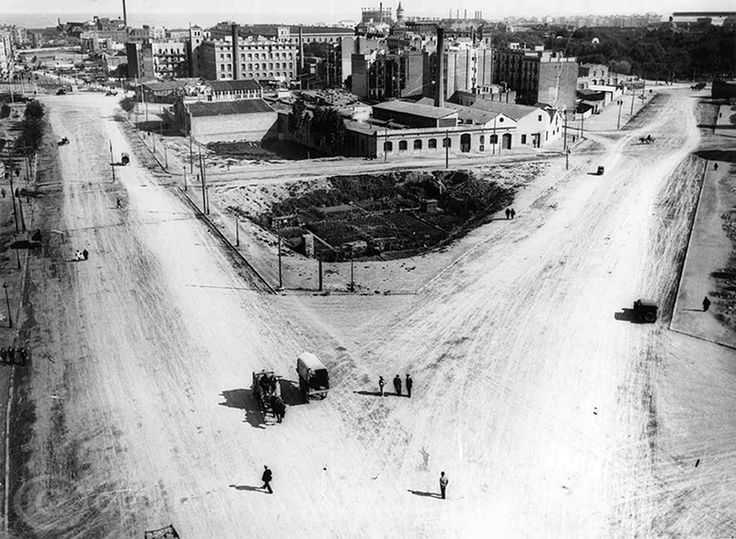 Barcelona 1915: Camino en donde empezaba la futura Avenida de la Meridiana - La Barcelona de antes