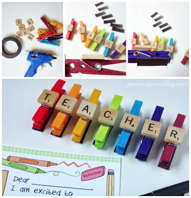 Teacher gift craft and {FREE} printable! | http://www.penandpaintblog.com | #craft #teacher #printable