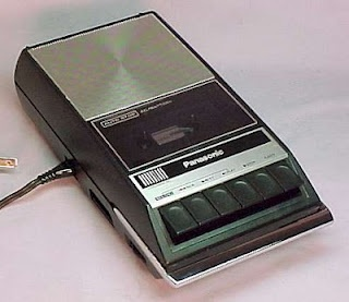 Cassette Recorder.Taped music from the radio...with all the background noise...LOL