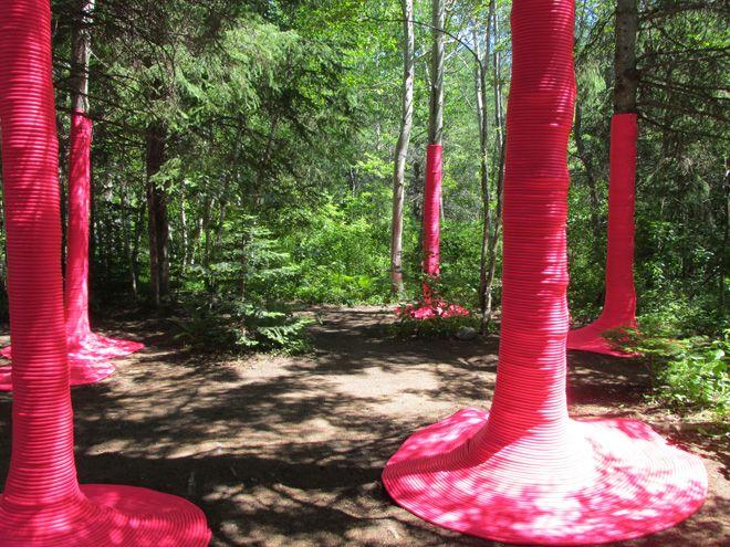 Pink Punch installation by Nicholas Croft and Michaela MacLeod at 2013 International Garden
