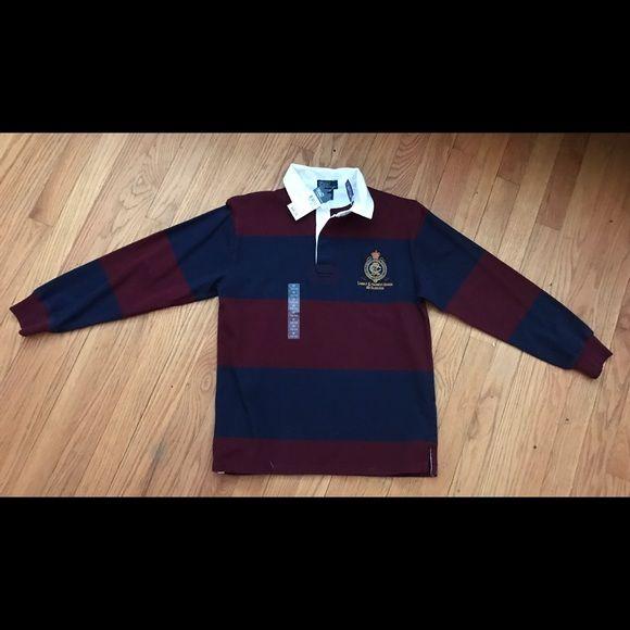 Boys Polo Shirt  by Ralph Lauren 12/14 Brand new Navy and Maroon Long Sleeved polo shirt Polo by Ralph Lauren Shirts & Tops Polos