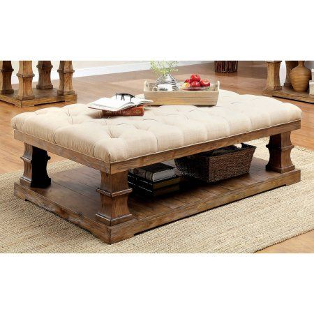 Furniture of America Bonita Tufted Fabric Coffee Table, Natural Tone - 25+ Best Ideas About Fabric Coffee Table On Pinterest Antique